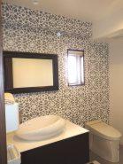 アクセントクロスの浴室・洗面・トイレ 水廻りのリフォーム