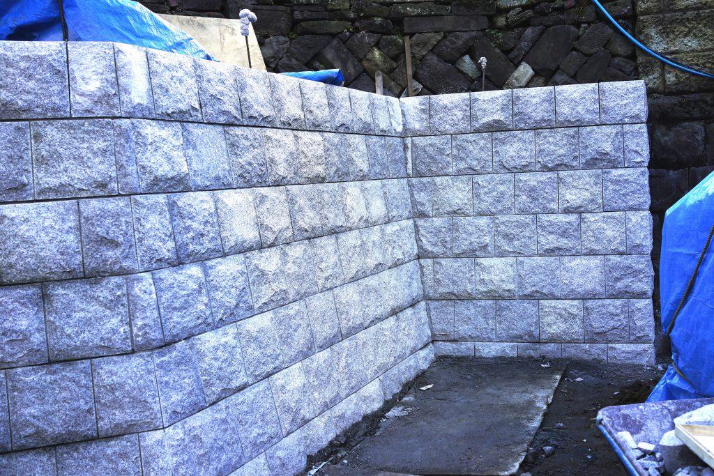 お寺さんの擁壁工事