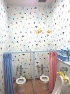 ニモが泳ぐ、子供も嬉しい♪ 幼稚園のトイレリフォーム
