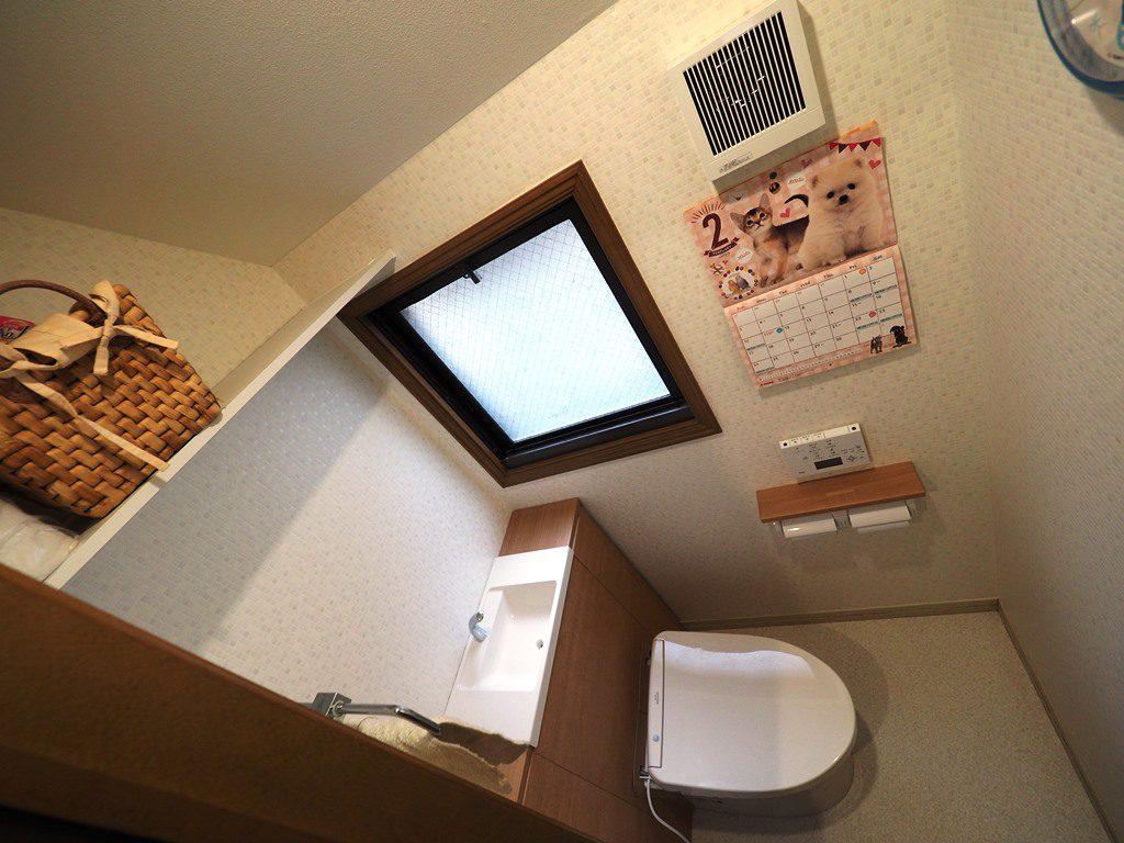 収納付きトイレにリフォーム。
